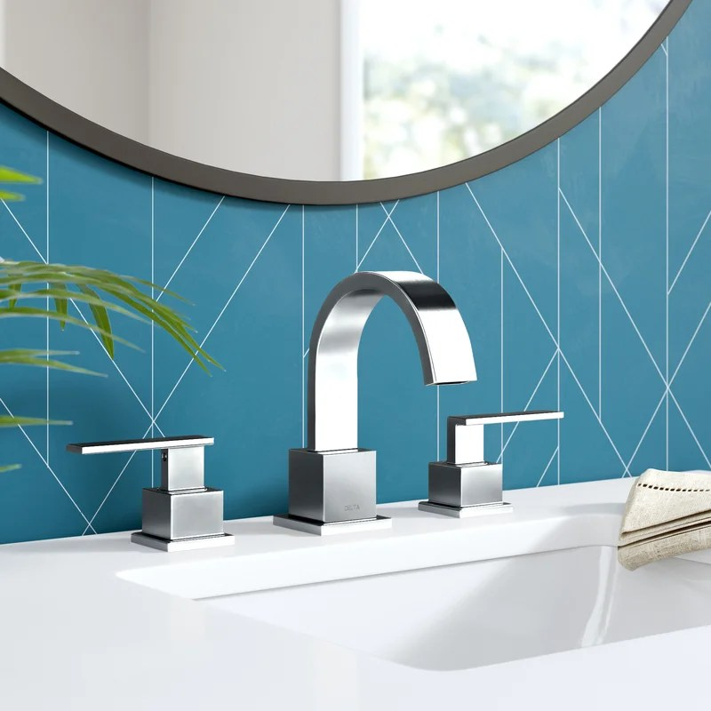 vero widespread bathroom faucet with drain assembly