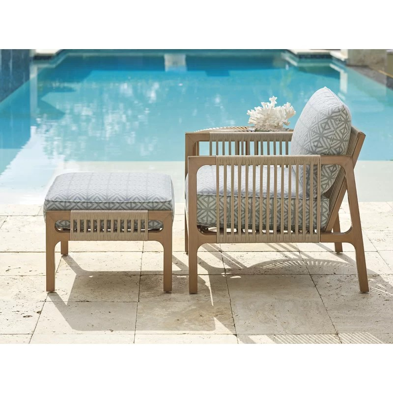st tropez patio chair with cushions and ottoman