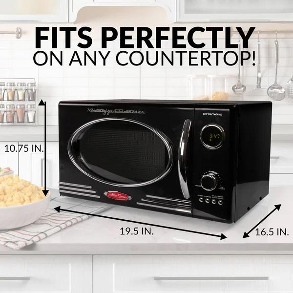 nostalgia retro 19 0 9 cubic feet cu ft 800 watt watt countertop microwave