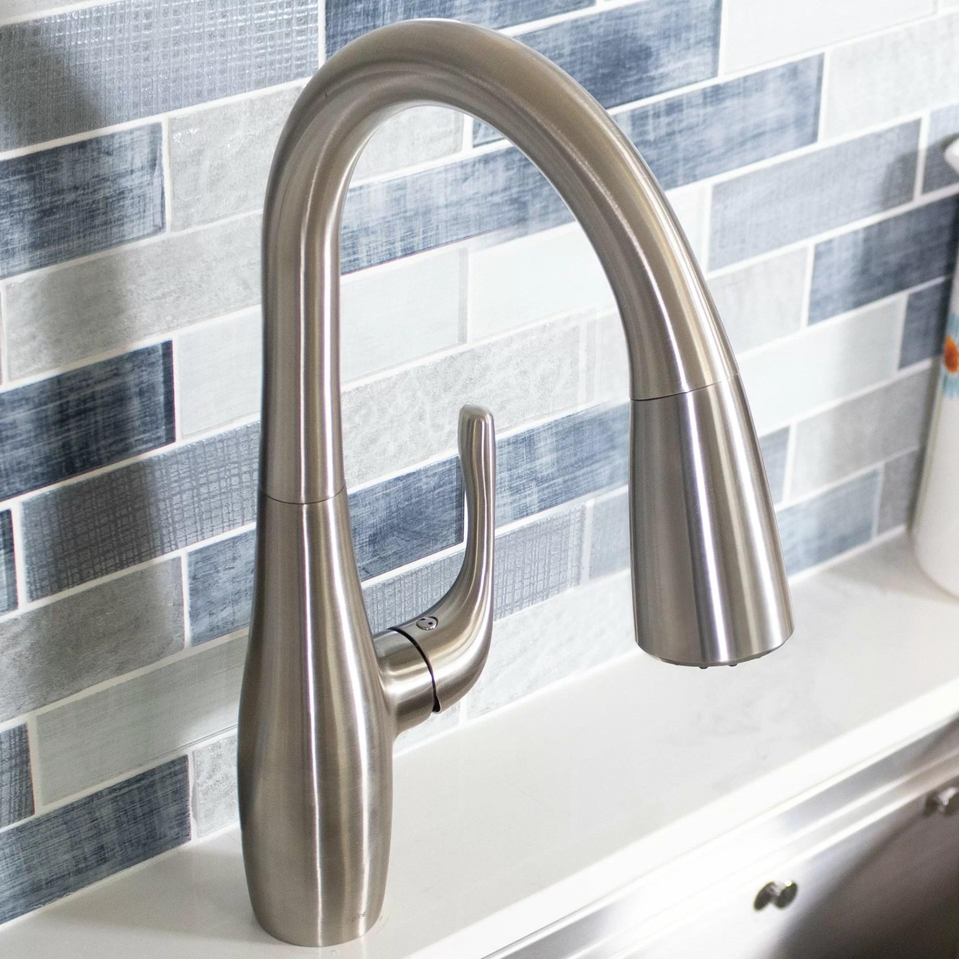 2 handle standard kitchen faucet side