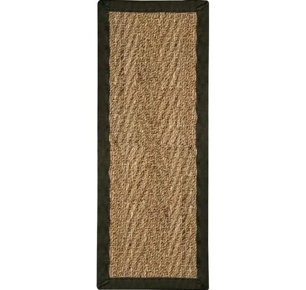 Seagrass Stair Runner Wayfair | Wayfair Stair Carpet Runners | Textured Carpet | Rosalind Wheeler | Staircase Makeover | Treads Carpet | Brown Beige