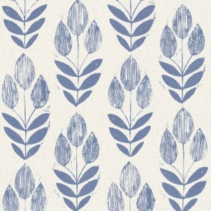 "Ladwig Scandinavian 33' x 20.5"" Block Tulip Floral Wallpaper Roll"