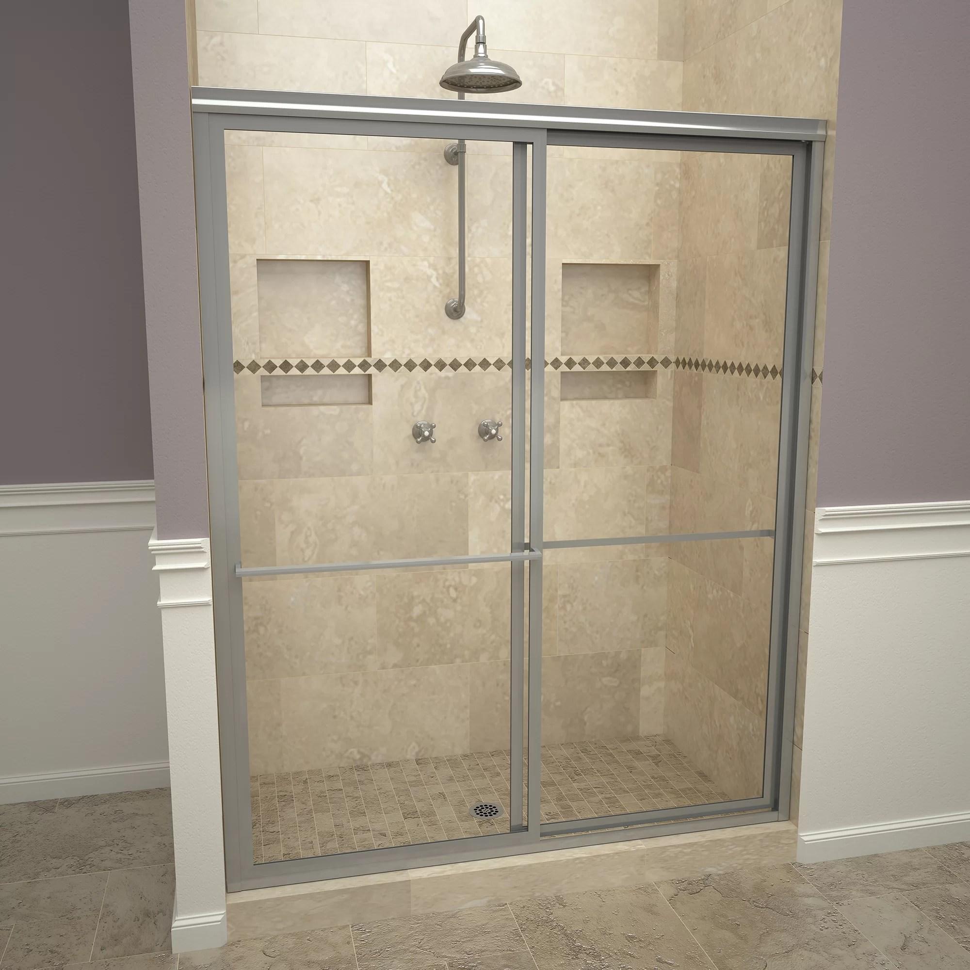 1100 Series 59 X 71 5 Double Sliding Framed Shower Door