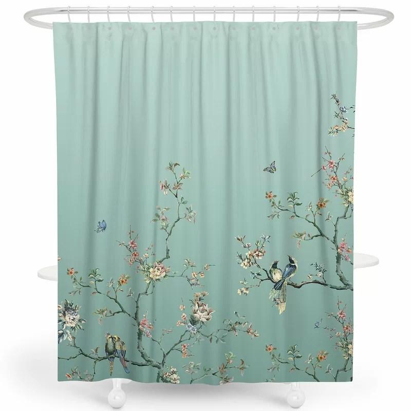 robinett flower birds single shower curtain hooks