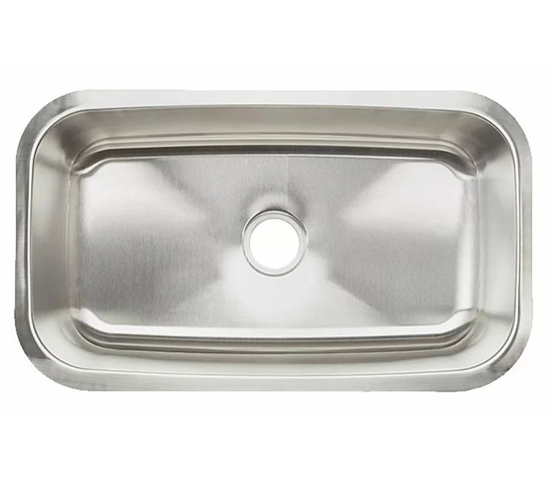 31 5 l x 18 38 w single bowl undermount kitchen sink