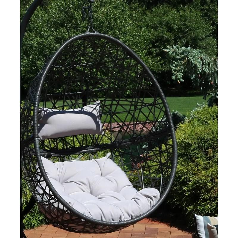 Brayden Studio Abernathy Hanging Egg Swing Chair Reviews Wayfair