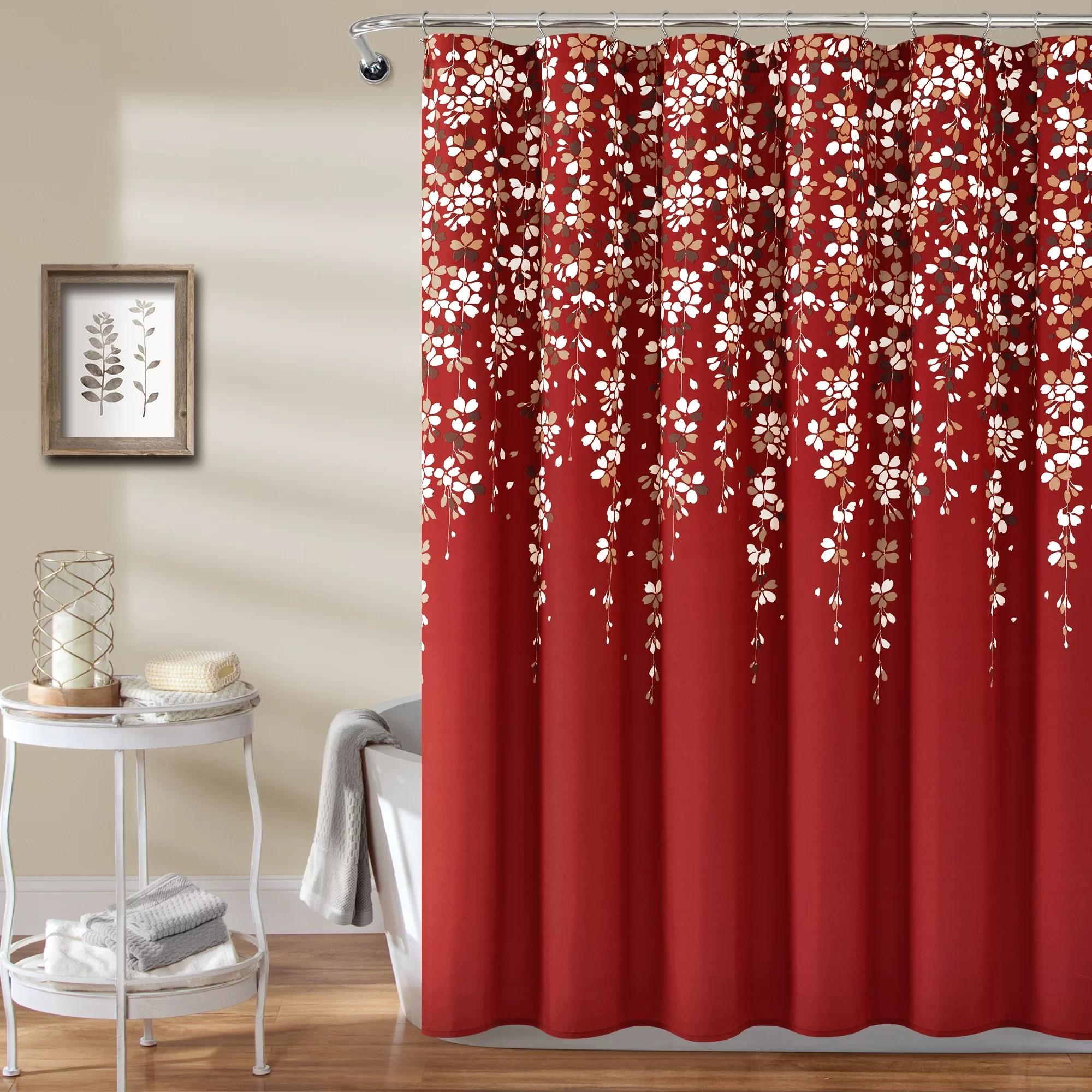 black red shower curtains shower