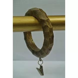 purifoy large hammered designer curtain ring set of 8