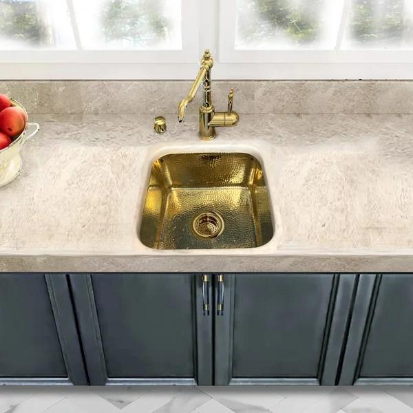 hammered brass sink