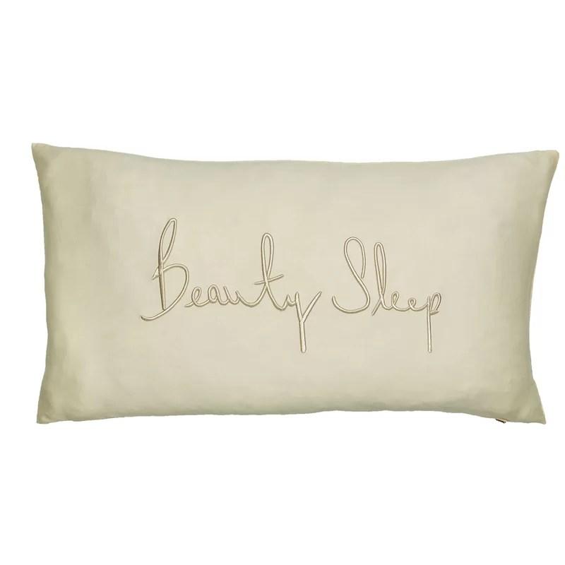 beauty sleep cotton 12 lumbar pillow