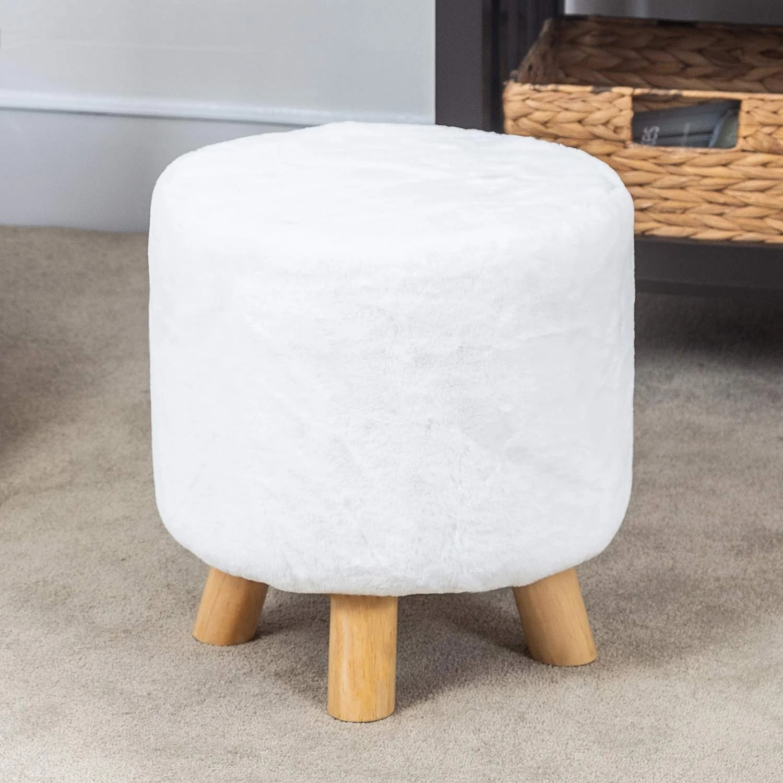 round footstool with legs wayfair