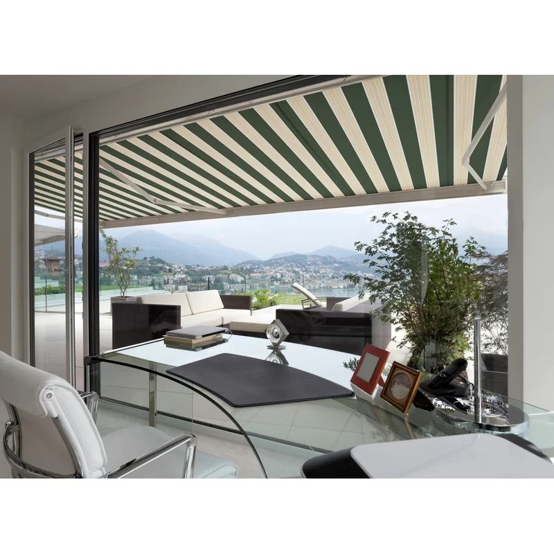 luxury series electric retractable standard woven acrylic patio awning