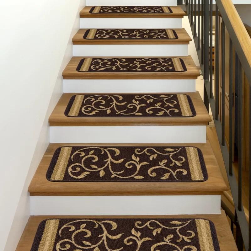 Fleur De Lis Living Farnsworth Stair Tread Reviews Wayfair   Wayfair Stair Tread Rugs   Bullnose Carpet   Tucker Murphy   Slip Backing   Non Slip Stair   Skid Resistant