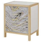 Adela Modern Hand Painted 5 Drawer Nightstand