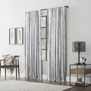 modern black white curtains drapes