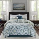 Bungalow Rose Thatcher Teal Reversible Cotton 7 Piece Comforter Set Reviews Wayfair