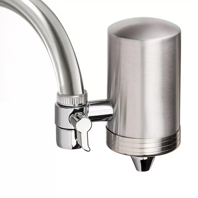 double outlet faucet mount filtration system