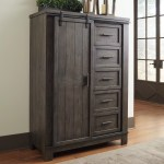 Gracie Oaks Durbin Sliding Door 5 Drawer Gentleman S Chest Reviews Wayfair