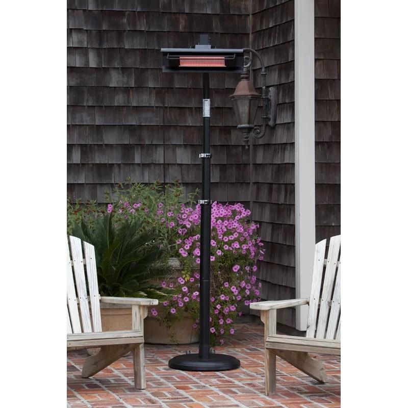 telescoping 1500 watt electric standing patio heater