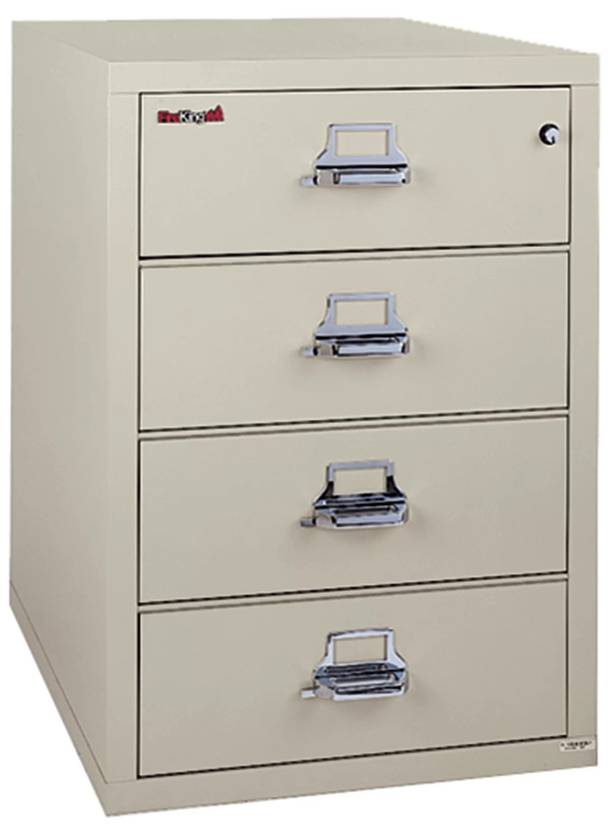Fireproof 4 Drawer Card Check And Note Vertical File Cabinet