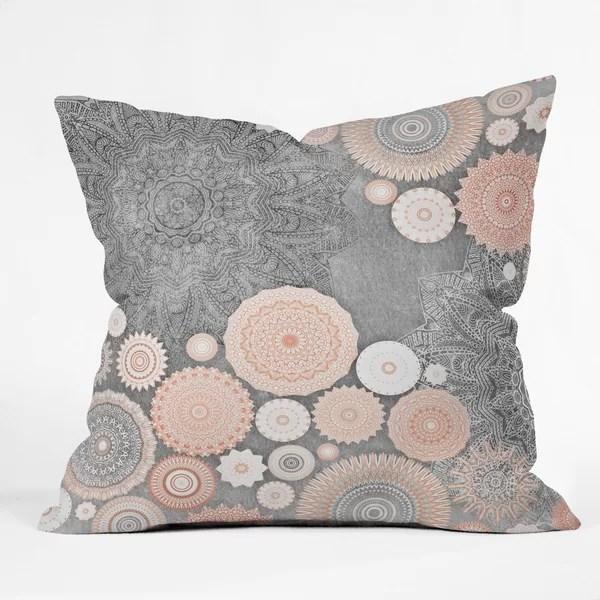monika strigel festival flow blush throw pillow