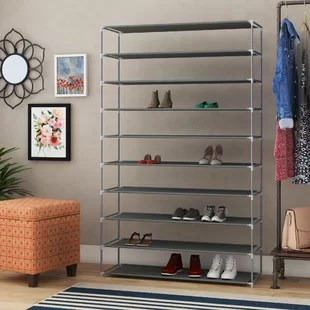burrier 50 pair shoe rack
