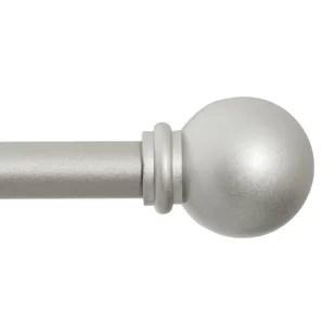 alleman adjustable 0 625 single curtain rod