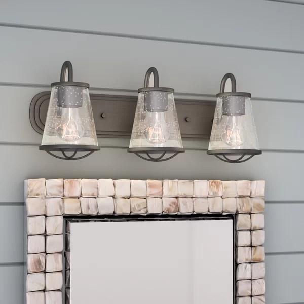 Beachcrest Home Regan 3-Light Vanity Light & Reviews ... on Wayfair Bathroom Sconces id=45225