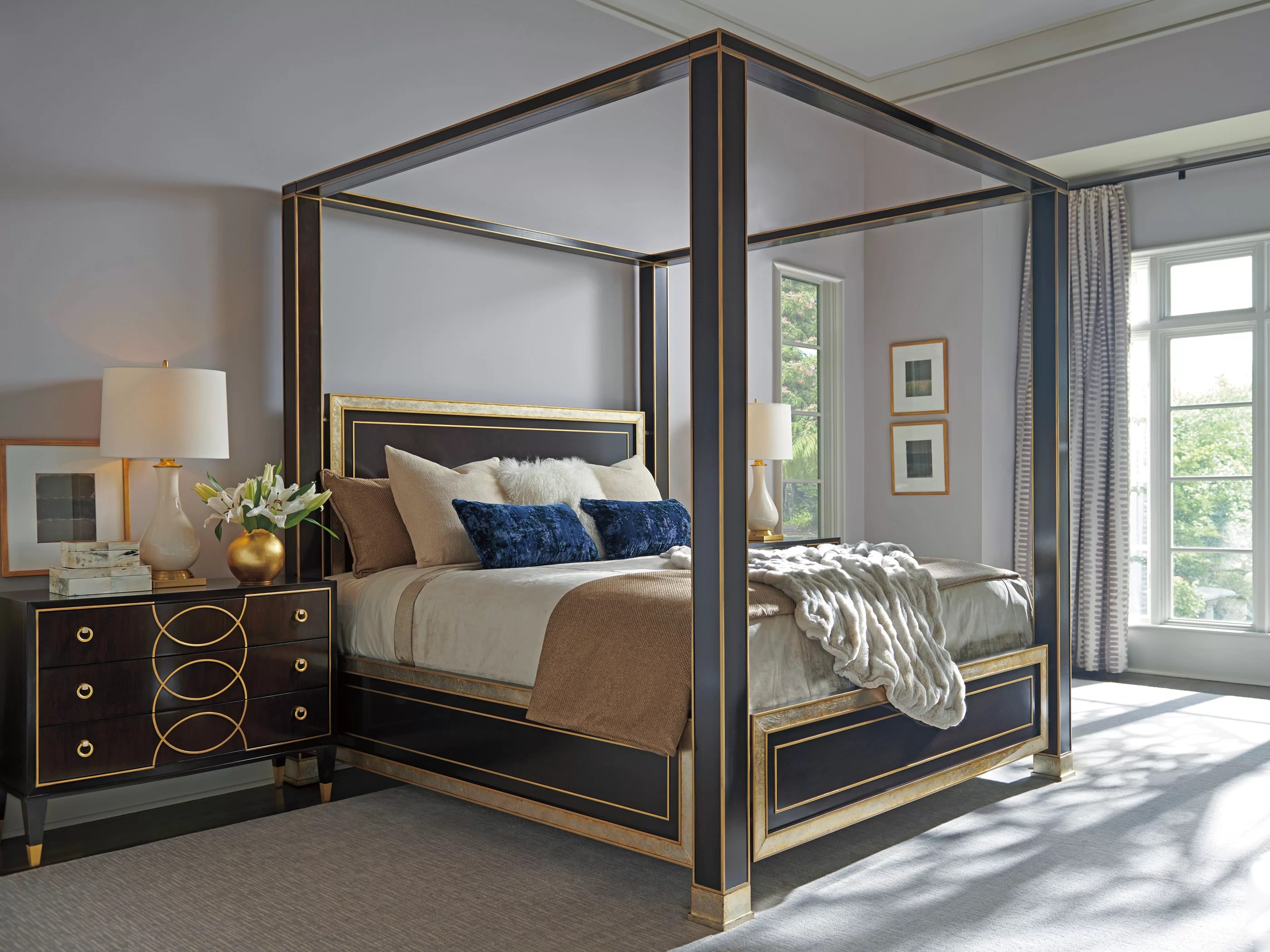 carlyle solid wood canopy configurable bedroom set
