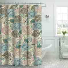 Winston Porter Maxman Fabric Weave Textured Floral Shower Curtain Set Reviews