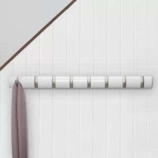 flip 8 hook wall mounted coat rack