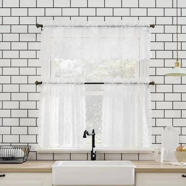 one piece kitchen curtains