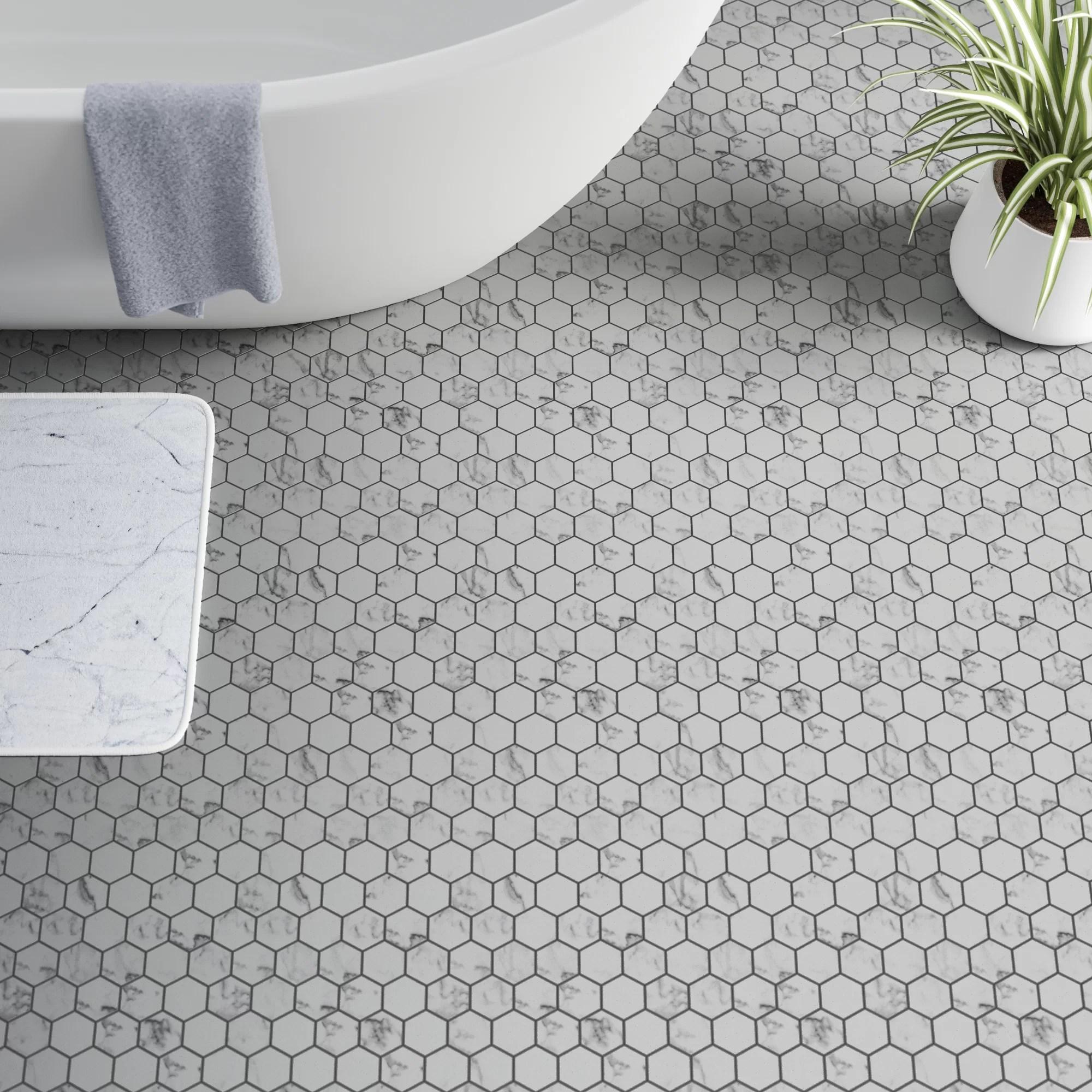 andrew 2 x 2 hexagon porcelain mosaic tile