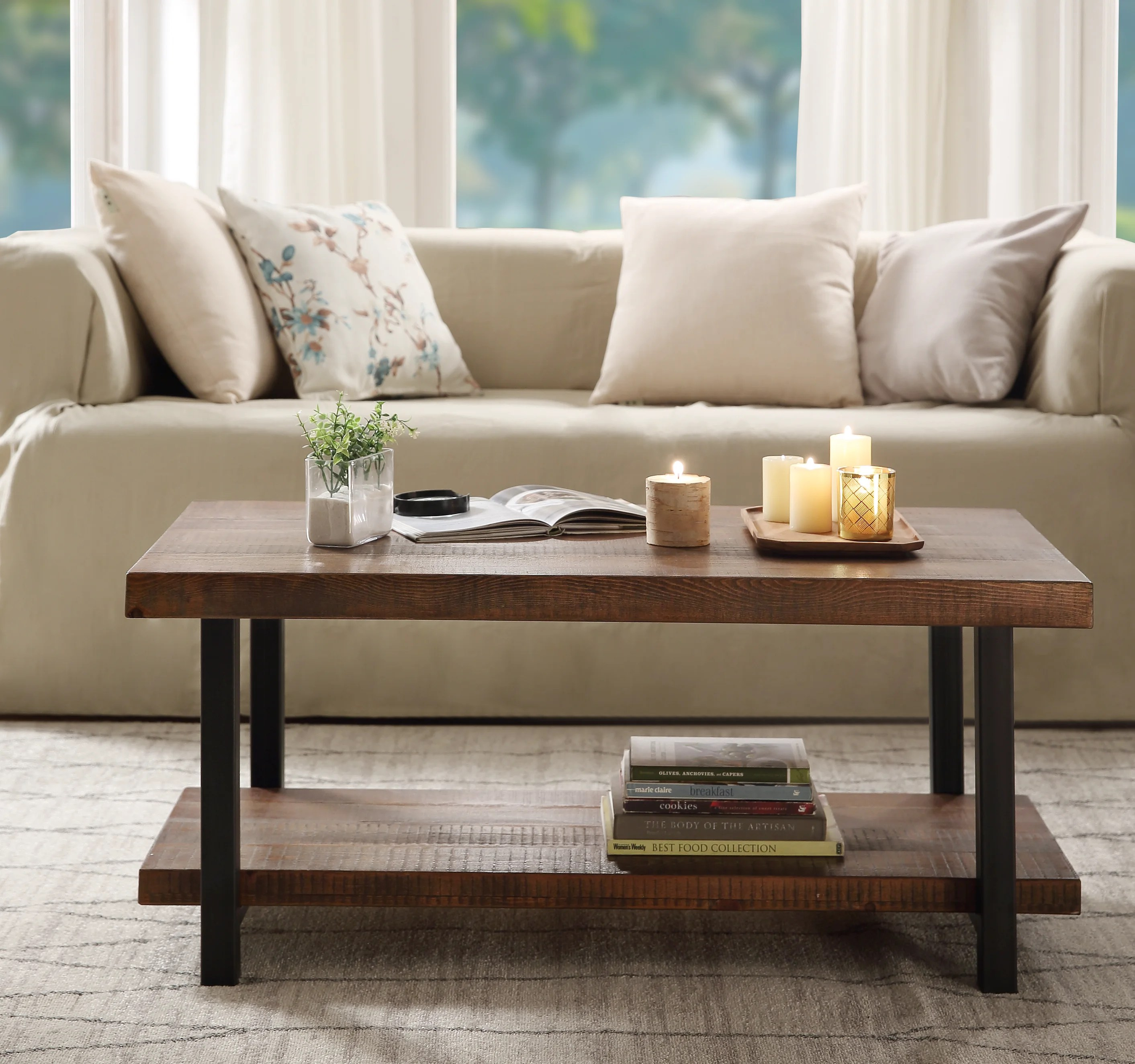 distressed finish coffee tables free