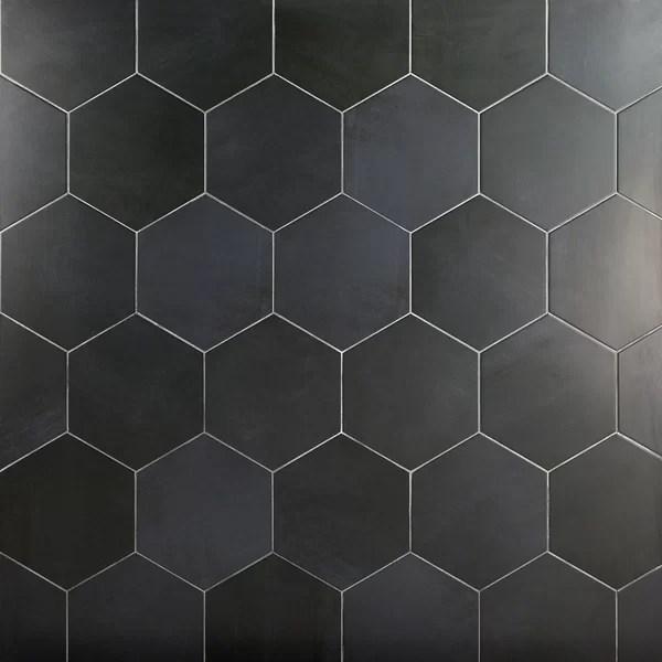 dark grey hexagon tile