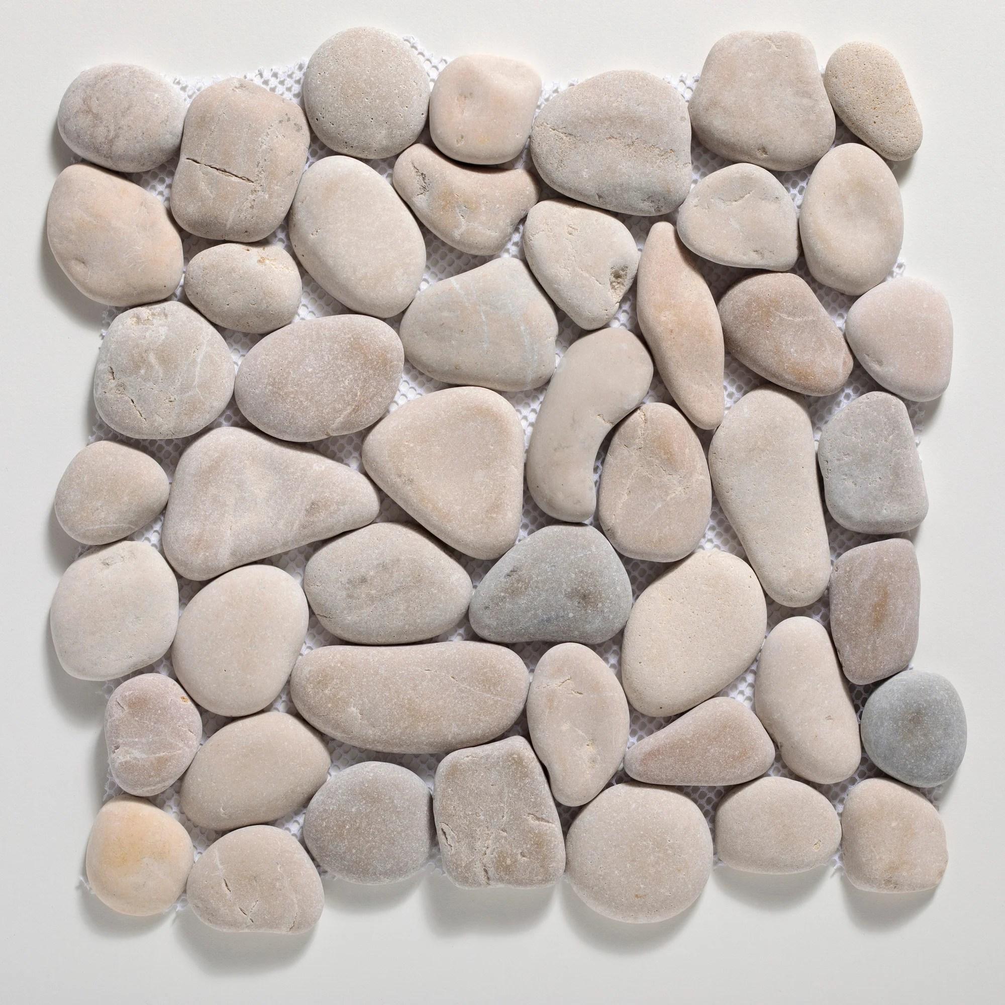 tile connection classic random sized natural stone pebbles mosaic wall floor tile reviews wayfair