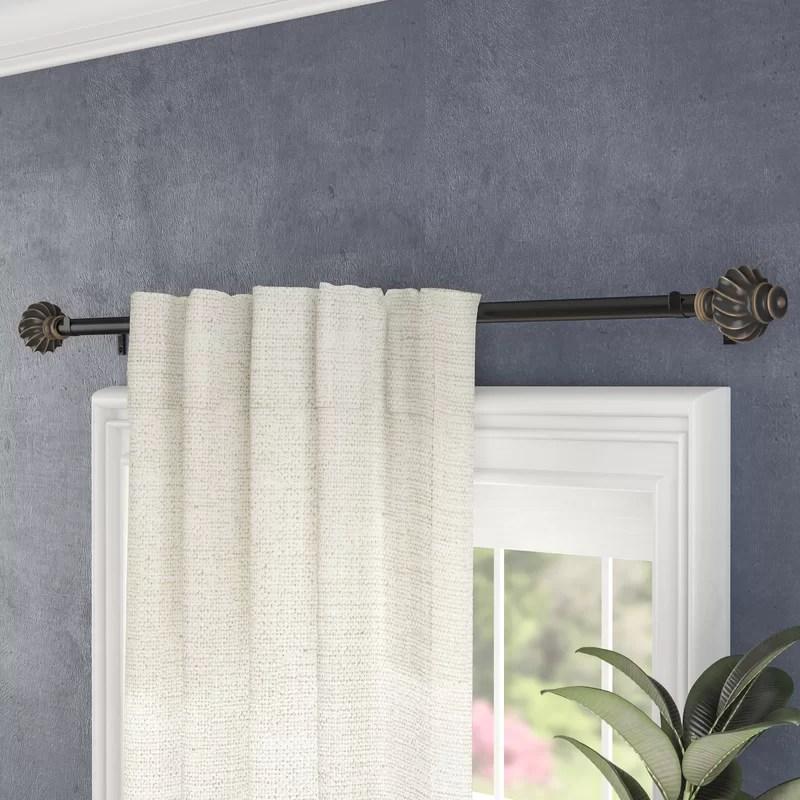 atlanta drapery single curtain rod