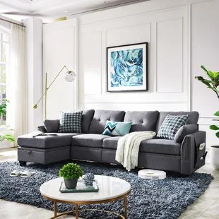 sylvette 101 2 reversible sofa chaise with ottoman