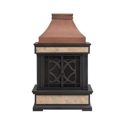 Outdoor Wood Burning Fireplace | Wayfair on Quillen Steel Outdoor Fireplace  id=65149