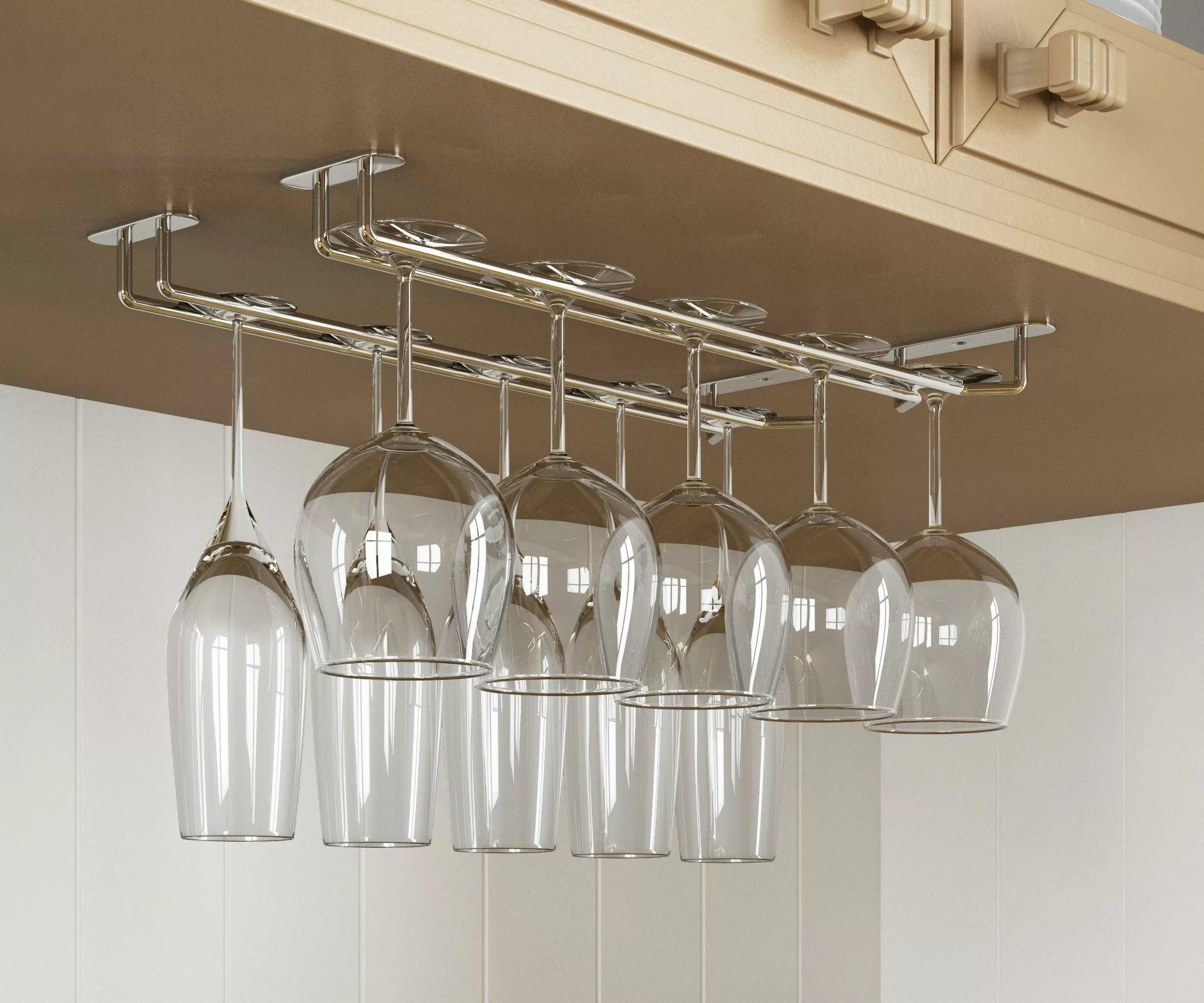 lizette hanging wine glass rack