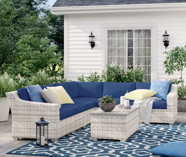 Sol  Outdoor Falmouth  Piece Rattan Sectional Seating Group