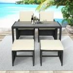Latitude Run Outdoor Rattan Wicker Patio Dining Table Set Garden Outdoor Patio Furniture Sets Wayfair Ca