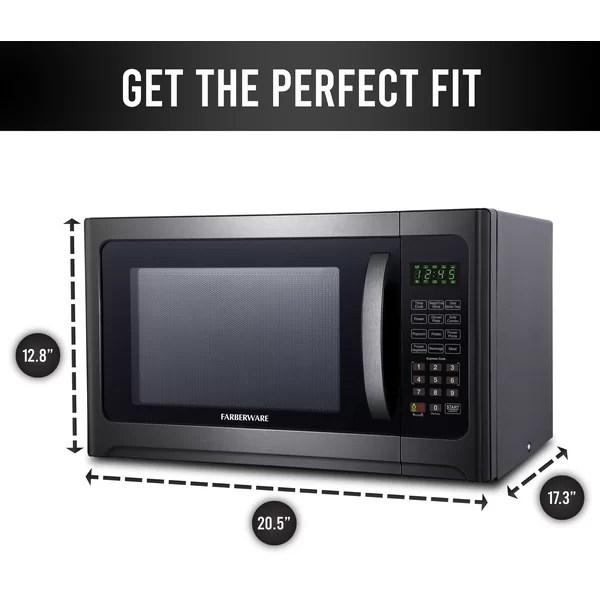 farberware 20 5 1 2 cubic feet cu ft 1100 watt watt countertop microwave