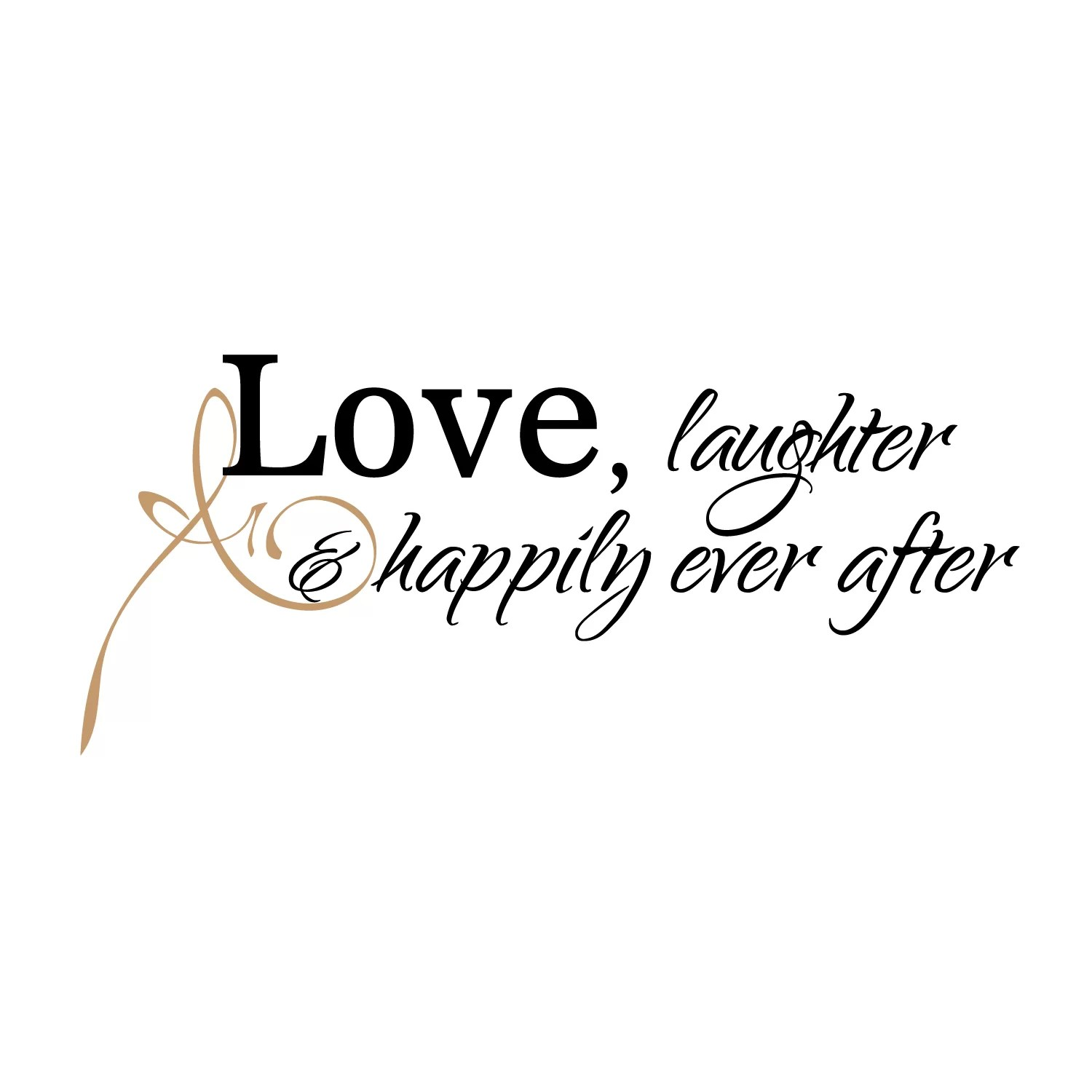 Firesidehome Love Laughter And Happily Ever After Wall