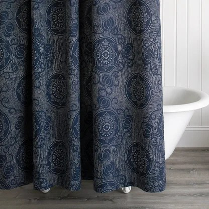 luxury navy shower curtains perigold