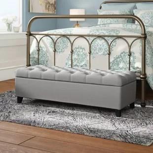 amalfi upholstered flip top storage bench