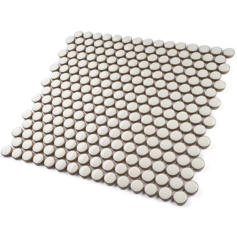 0 8 x 0 8 porcelain penny round mosaic wall floor tile