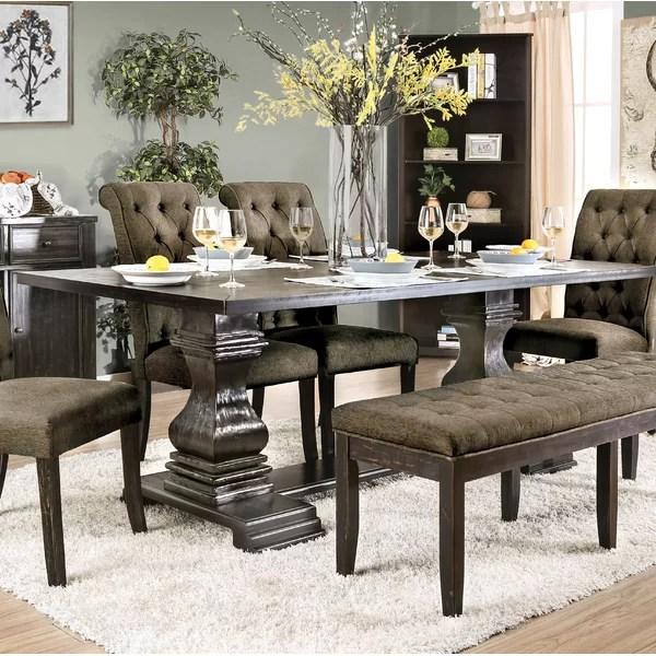 ophelia co kulik solid wood dining table wayfair on solid wood dining table id=17972