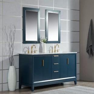 geneva 60 double bathroom vanity set