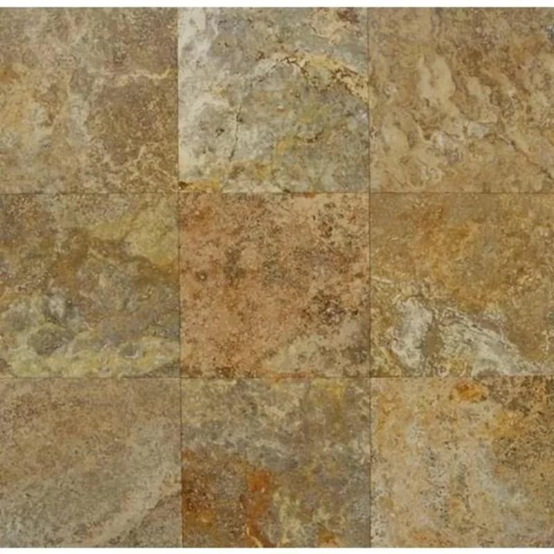 18 x 18 travertine marble look wall floor tile